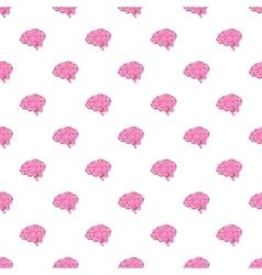 Brain pattern cartoon style vector