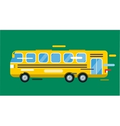 City bus cartoon style icon silhouette vector image vector image