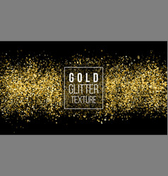 Golden dust explosion glitter confetti great for vector