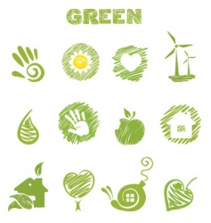 green theme vector image