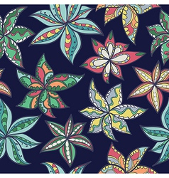 Hand-drawn floral texture ethnic flowers vector