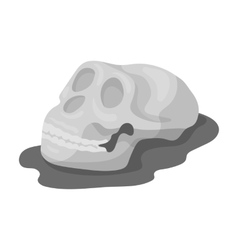 Human fossils icon in monochrome style isolated on vector