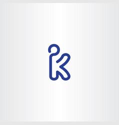 Letter k kickboxer logo icon vector