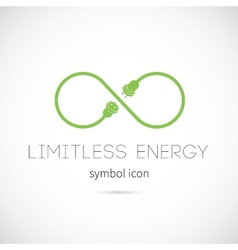 Limitless energy concept symbol icon vector