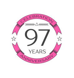 Ninety seven years anniversary celebration logo vector