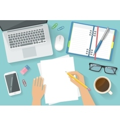 Office Workspace Concept vector image vector image
