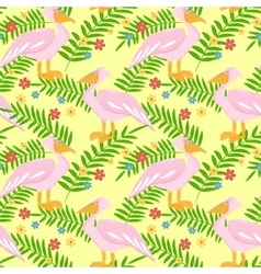Pelican seamless pattern vector