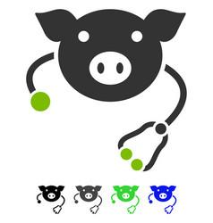 Pig veterinary flat icon vector
