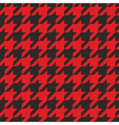 Red and black tweed houndstooth background vector image vector image