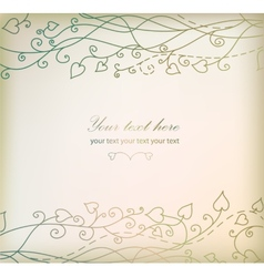 Retro floral background card vector