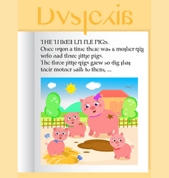 Seeing with dyslexia vector