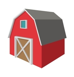 Shed cartoon icon vector
