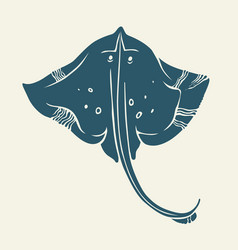 Stingray icon isolated vector