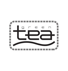 tea logo template design vector image vector image