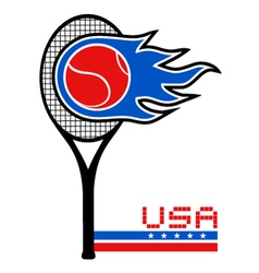 USA tennis vector image