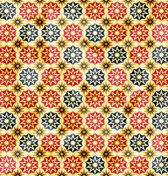 Vintage yellow star seamless pattern vector