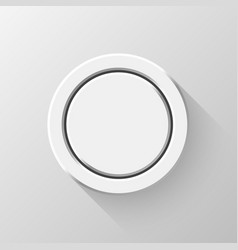 white flat circle badge vector image