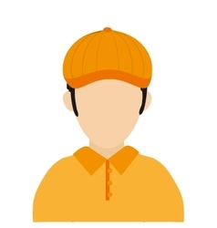 golf player icon vector image