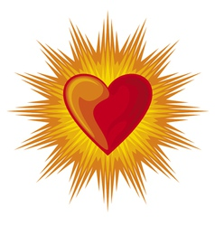 heart shining vector image
