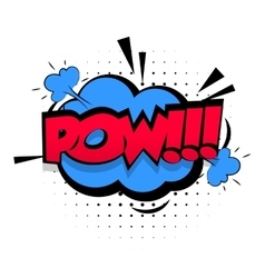 Comic sound effects pop art lettering pow vector