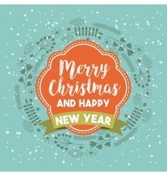 Merry christmas holiday december vector