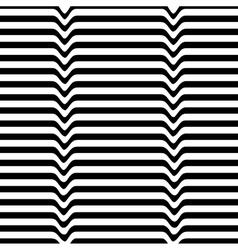 Monochrome movement white black wave line vector