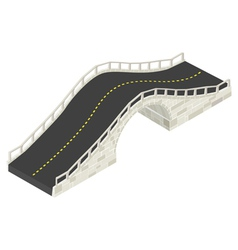 Isometric stone bridge vector