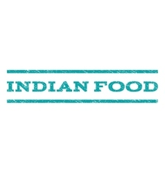 Indian food watermark stamp vector