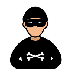 thief avatar character icon vector image