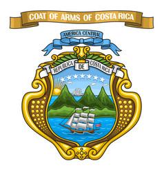 Costa rican coat of arms vector