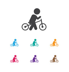 of child symbol on wheels icon vector image