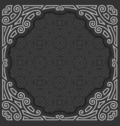 Black and white frame vector