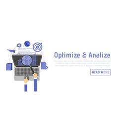 Seo optimization programming process and web vector