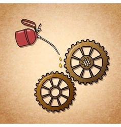 Smoothly spinning gears symbol vector