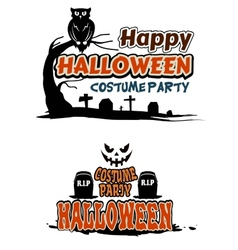 Halloween party themes vector