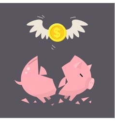 Piggy bank concept vector