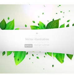Abstract leaf design with banner vector