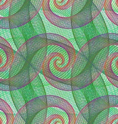 Repeating wired spiral pattern background vector
