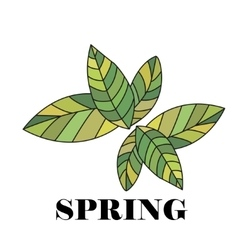 Spring hand drawn and doodles elements vector