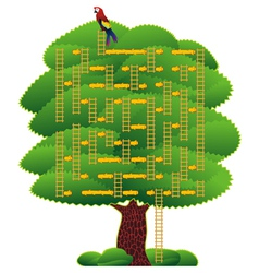 labyrinth green tree vector image