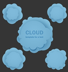 Abstract blue clouds Template for a text vector image