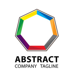 Abstract logo template colorful logo design on vector