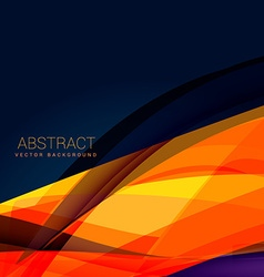 abstract orange wave style background design vector image vector image