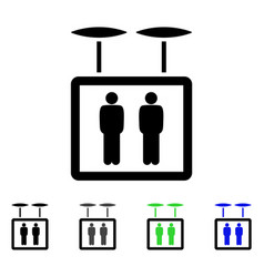 Airdrone elevator flat icon vector