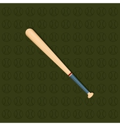 Baseball bat ball vector