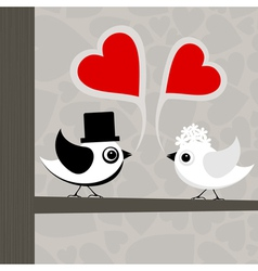 birds love vector image vector image
