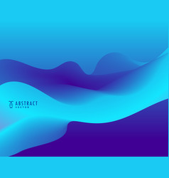 Blue background with wavy shape vector