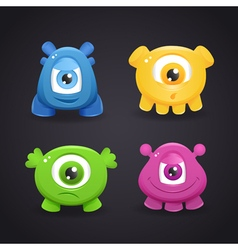 Cartoon cute monsters vector image vector image