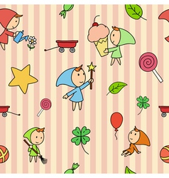 children fairy pattern vector image vector image
