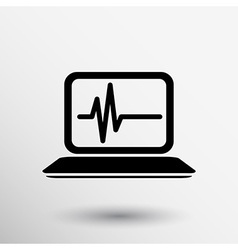 Computer diagnostics icon laptop test isolated vector